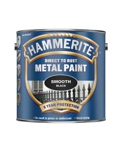 HAMMERITE Metal Paint - Smooth Finish 2.5L Black