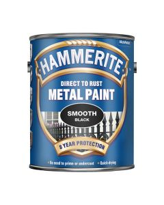 HAMMERITE Metal Paint - Smooth Finish 5L Black