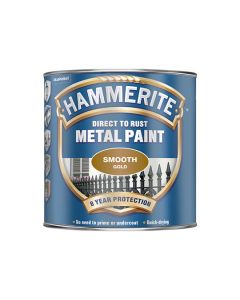 HAMMERITE Metal Paint - Smooth Finish 750ml Gold