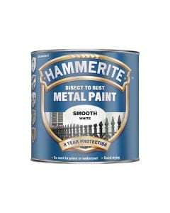 HAMMERITE Metal Paint - Smooth Finish 750ml White