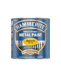 HAMMERITE Metal Paint - Smooth Finish 750ml Yellow