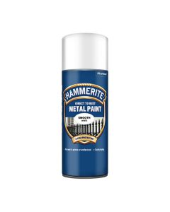 HAMMERITE Metal Paint - Smooth Finish - Spray 400ml White