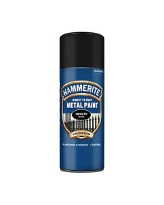 HAMMERITE Metal Paint - Smooth Finish - Spray 400ml Black