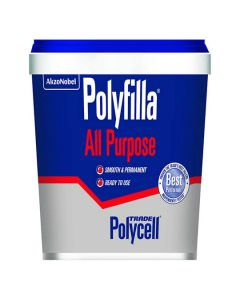 Polycell Trade Polyfilla All Purpose Filler Ready Mixed White 1kg