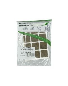 PRACTICAL WAY Felt Pads Pk24 20mmx20mm Brown