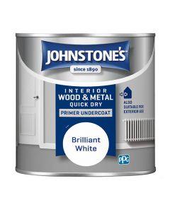 JOHNSTONES Acrylic Q/Drying Primer Undercoat 250ml White