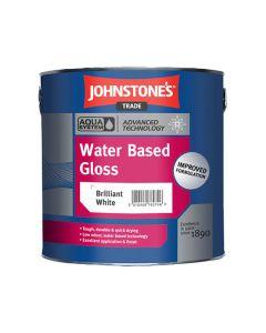 JOHNSTONES AQUA Acrylic/Water Based Gloss 1L B/White