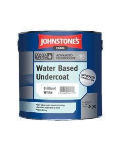 Johnstones Aqua Water Based Undercoat Paint Brilliant White 1L