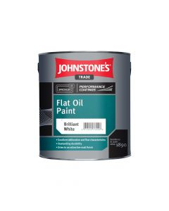 Johnstones Flat Oil Paint 2.5L Brilliant White