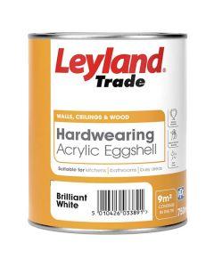 Leyland Trade Hardwearing Acrylic Eggshell Brilliant White 750ml