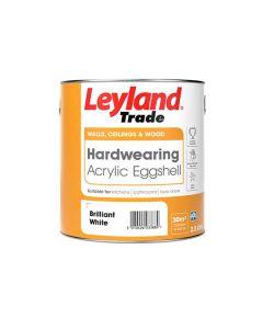 Leyland Trade Hardwearing Acrylic Eggshell Brilliant White 2.5L