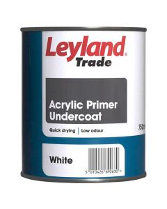 LEYLAND Acrylic Q/Drying Primer Undercoat 750ml White