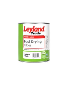 LEYLAND Fast Drying Water Based Gloss 750ml B/White