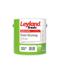 Leyland Trade Fast Drying Gloss Paint Brilliant White 2.5L