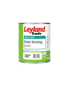 LEYLAND Fast Drying Water Based Satin 750ml B/White