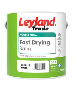 LEYLAND Fast Drying Water Based Satin 2.5L B/White