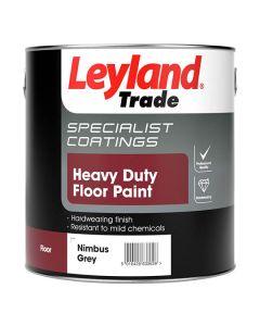 Leyland Trade Heavy Duty Floor Paint Nimbus Grey 2.5L