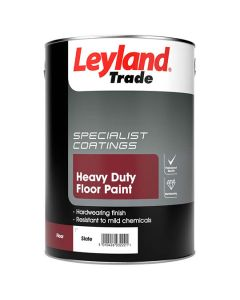 Leyland Trade Heavy Duty Floor Paint Slate 5L