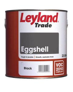 Leyland Trade Eggshell Paint Black 2.5L