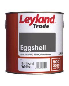 Leyland Trade Eggshell Paint Brilliant White 2.5L