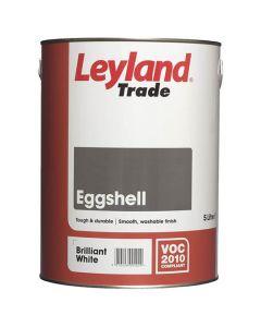 Leyland Trade Eggshell Paint Brilliant White 5L