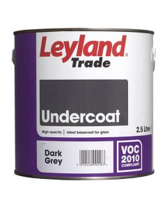 Leyland Trade Undercoat Paint Dark Grey 2.5L