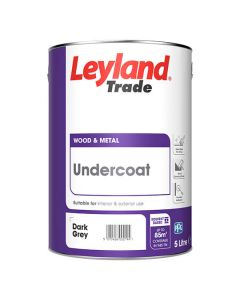 Leyland Trade Undercoat Paint Dark Grey 5L