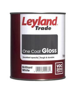 LEYLAND One Coat Gloss 750ml B/White
