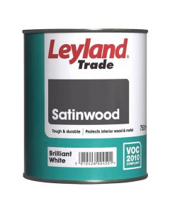 LEYLAND Satinwood 750ml B/White