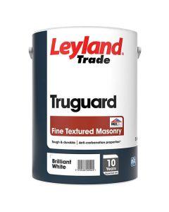 Leyland Trade Truguard Fine Textured Masonry Paint Brilliant White 5L