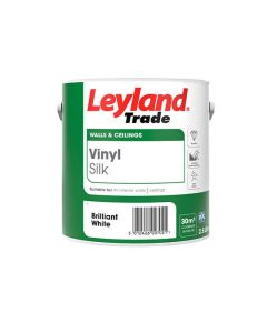 Leyland Trade Vinyl Silk Emulsion Paint Brilliant White 2.5L