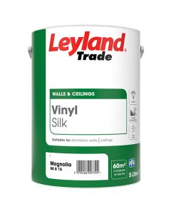 Leyland Trade Vinyl Silk Emulsion Paint Magnolia 5L