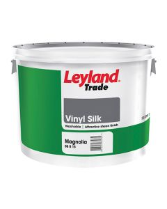 Leyland Trade Vinyl Silk Emulsion Paint Magnolia 10L