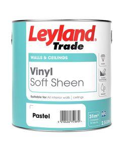 Leyland Trade Vinyl Soft Sheen Emulsion Paint Brilliant White 5L