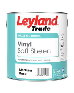 Leyland Trade Vinyl Soft Sheen Emulsion Paint Brilliant White 5L