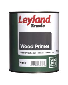 Leyland Trade Wood Primer Paint White 750ml