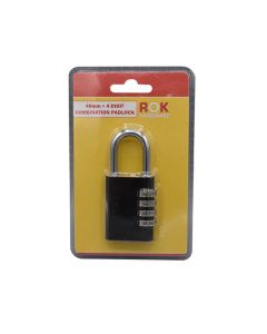 ROK HARDWARE Combination Padlock - 4 Digit 40mm
