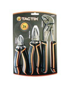 TACTIX Plier Set 3Pcs (Includes Slim Jaw Waterpump Pliers)