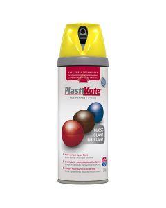 PlastiKote Twist & Spray Gloss Paint New Yellow 400ml