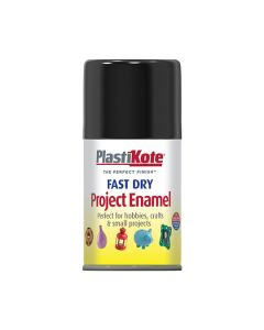 PlastiKote Project Enamel Paint Spray Gloss Black 100ml