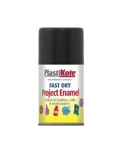 PlastiKote Project Enamel Paint Spray Flat Black 100ml