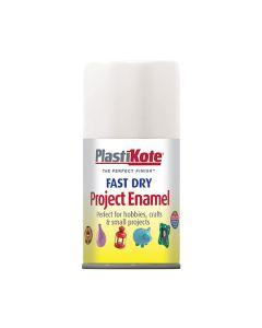 PlastiKote Project Enamel Paint Spray Gloss White 100ml