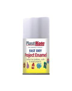 PlastiKote Project Enamel Paint Spray Flat White 100ml