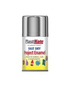 PlastiKote Project Enamel Paint Spray Chrome 100ml