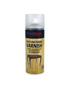 PLASTI-KOTE Spray - Polyurethane Varnish 400ml Sat Clear