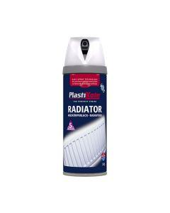 PlastiKote Twist & Spray Radiator Paint Satin White 400ml
