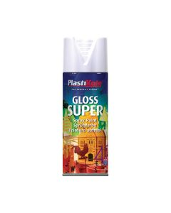 PLASTI-KOTE Spray - SUPER Gloss 400ml White