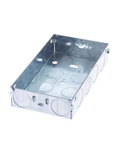 Electrics - Metal Back Box 2 Gang 25mm