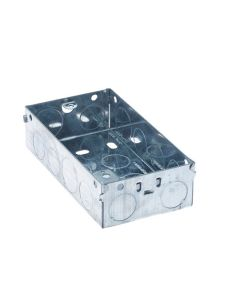 Electrics - Metal Back Box 2 Gang 35mm