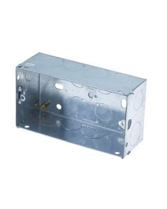 Electrics - Metal Back Box 2 Gang 47mm
